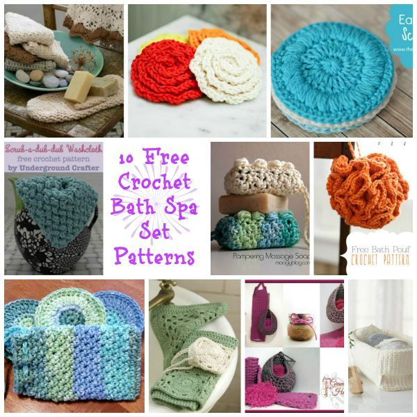 One of my favorite things to make with 100% cotton yarn is bath and ...