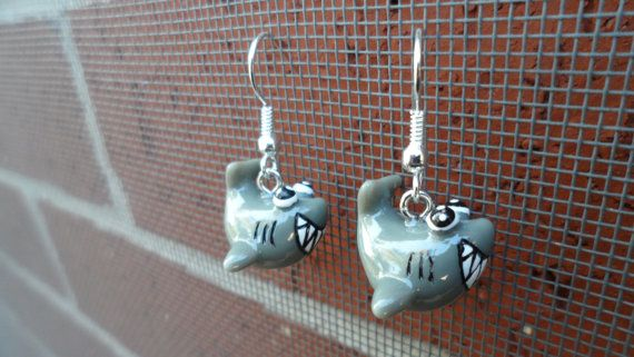 Hey, I found this really awesome Etsy listing at https://www.etsy.com/listing/88862626/shark-earrings