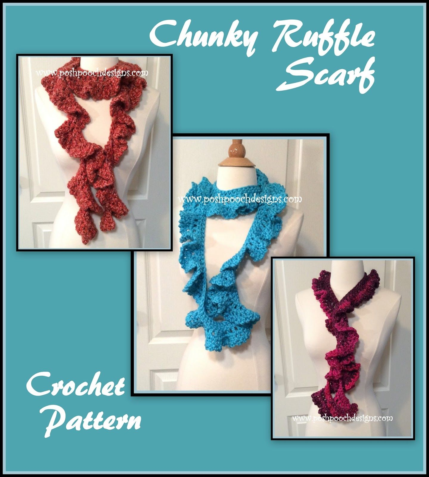 Chunky Ruffle Scarf Crochet Pattern Stitch up this lovely Ruffle ...