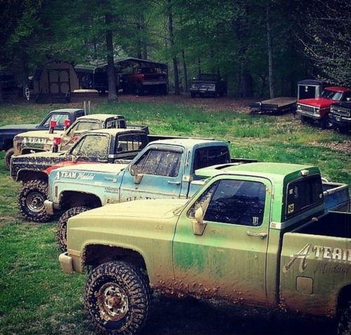 Muddy Pickup Truck Collection Pickup Trucks Monster Trucks Trucks