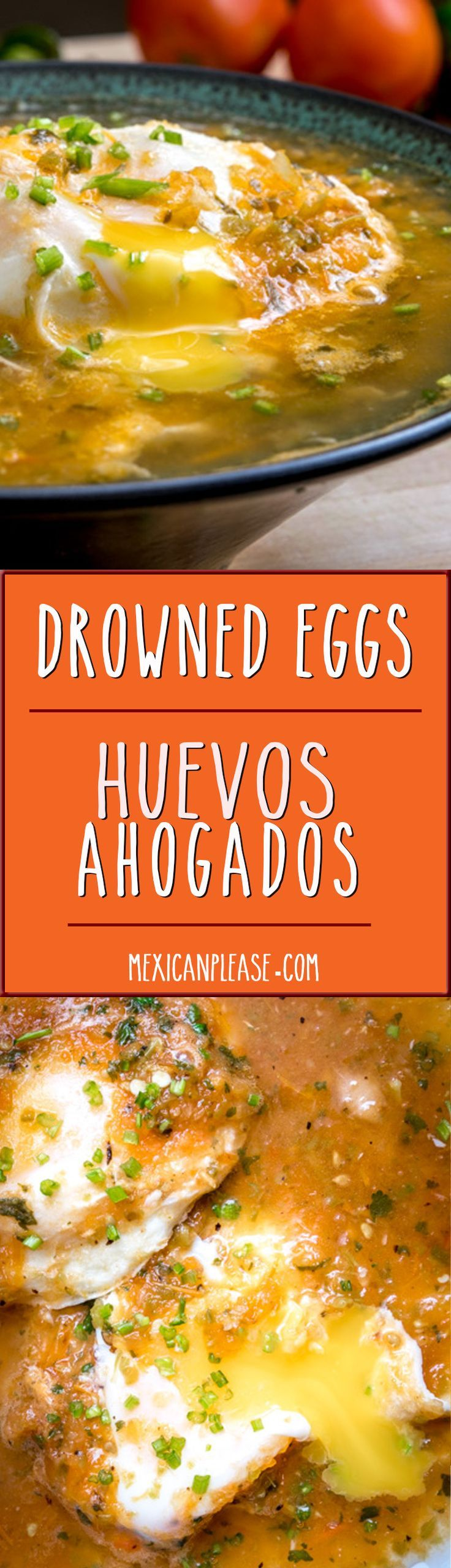 If you've never had eggs poached in homemade salsa before then wait no longer! You simply cannot beat the flavor of these Huevos Ahogados. So good! http://mexicanplease.com