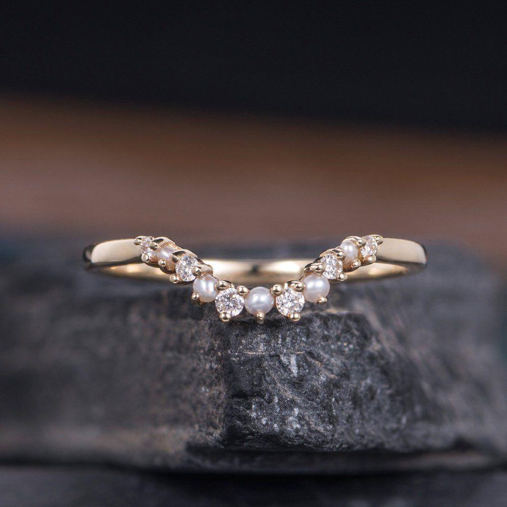 25+ Pearl wedding rings handmade info