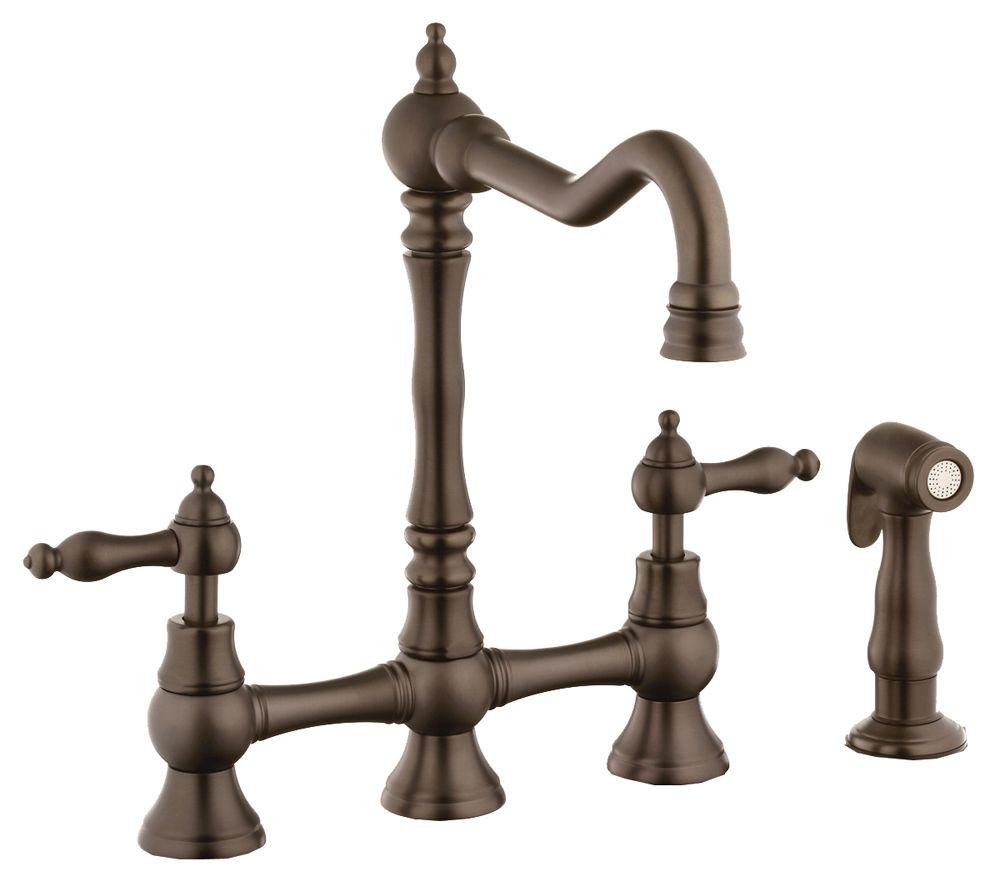 belle foret bfn11001orb oil rubbed bronze bridge kitchen faucet with rh pinterest com