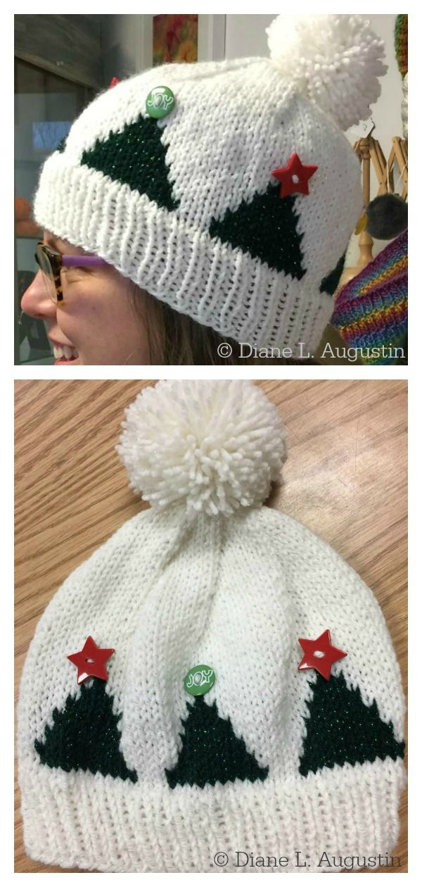 Tree Topper Hat Free Knitting Pattern #freeknittingpattern  #knittingpatterns  #knittinghats  #christmashat