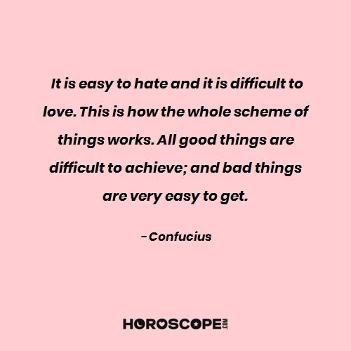 Love quote by Confucius