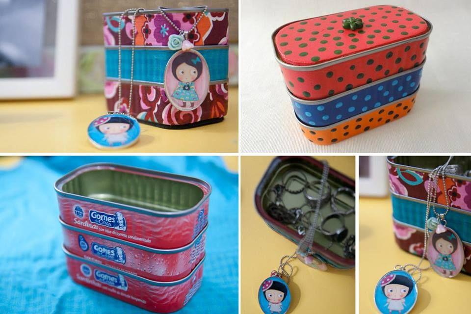 Porta-jóias de lata de sardinha | Tô barata, mas tô na moda!