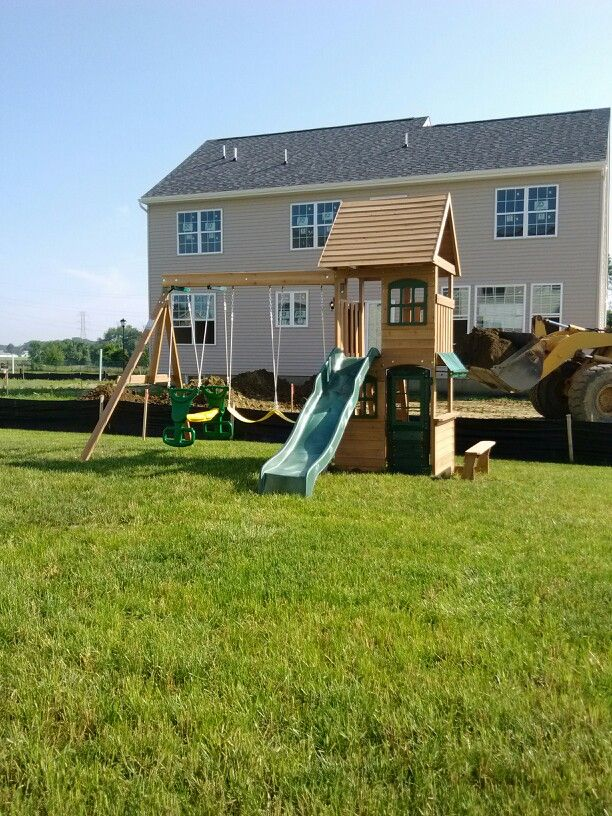 Big Backyard Windale Playset From Toys R Us Installed In Mullica