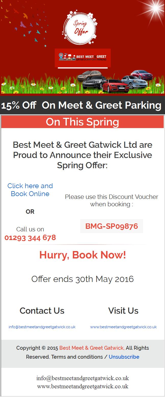 Save 15 On Meetandgreet Parking Gatwick