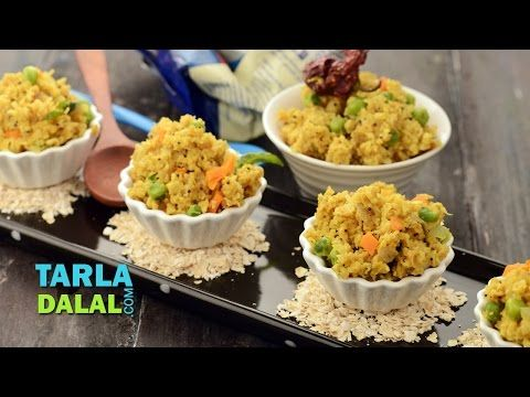 Oats upma fibre rich breakfast by tarla dalal youtube indian food forumfinder Image collections