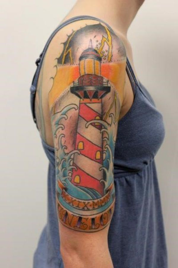 f415fa7c2ec0a 35 Light House Tattoos and Meanings | pcc | Cool tattoos, Body Art y ...