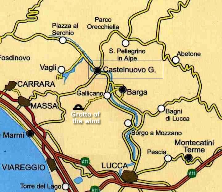 Click To Enlarge The Garfagnana Area Map Article Read List - Italy map tuscany area