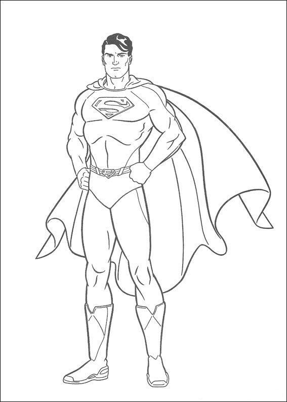 Kleurplaten En Zo Kleurplaat Van Superman Superman Coloring Pages Superhero Coloring Pages Superhero Coloring