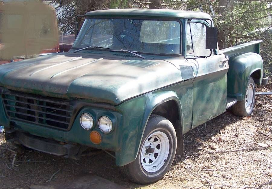 My grandpa\'s (dad\'s side) old green truck on his farm. I used to ...