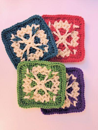 Bailey Afghan Square Block Free Crochet Pattern Crochet Square Patterns Crochet Patterns Granny Square Crochet Pattern
