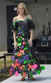 Flower duct tape dress
