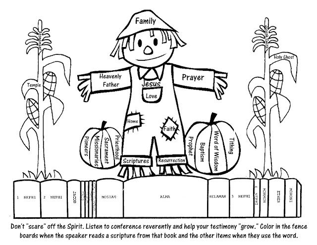 General Conference Coloring Page General Conference Activities