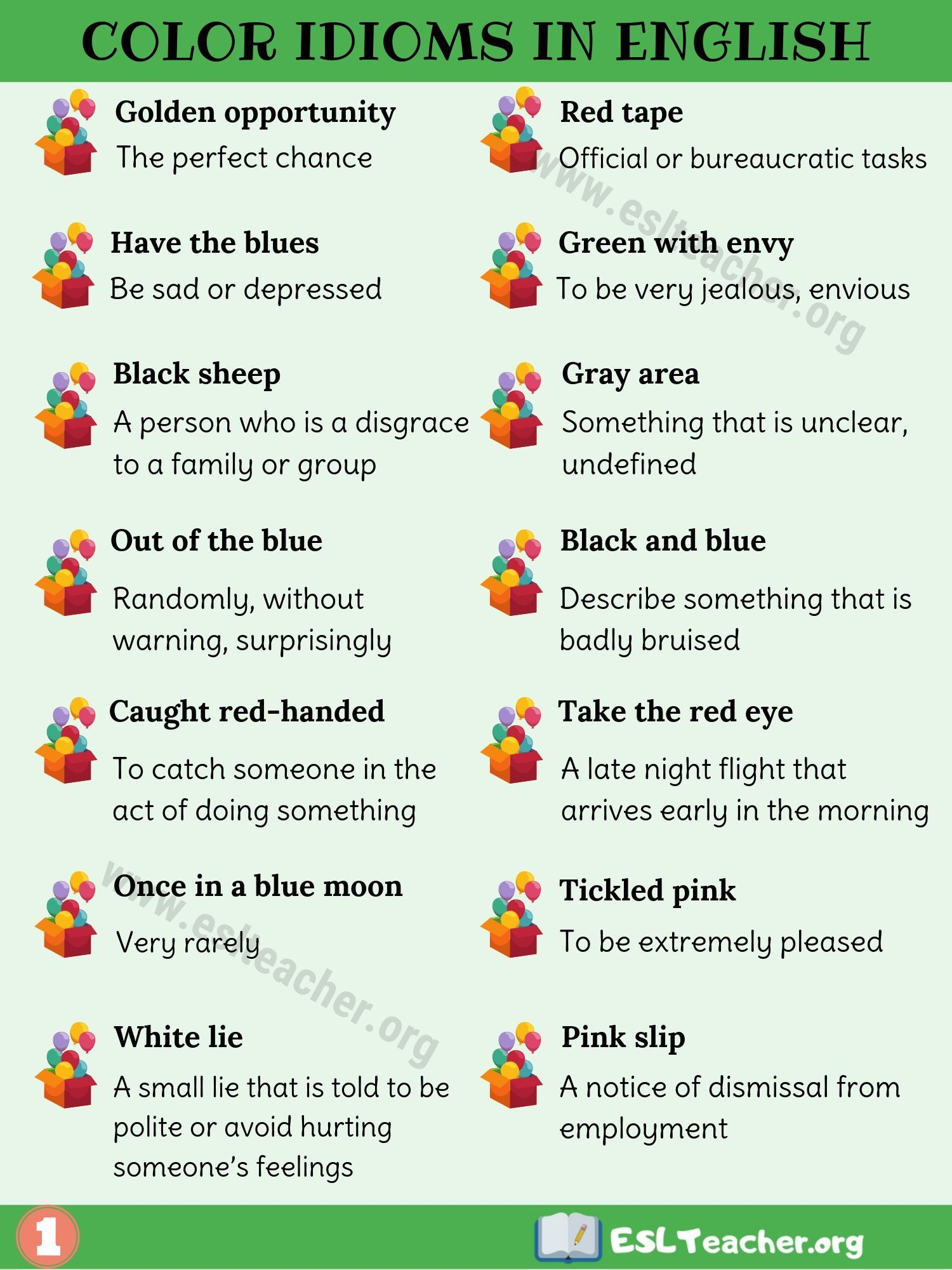 Color Idioms 29 Awesome Color Idioms To Develop Your
