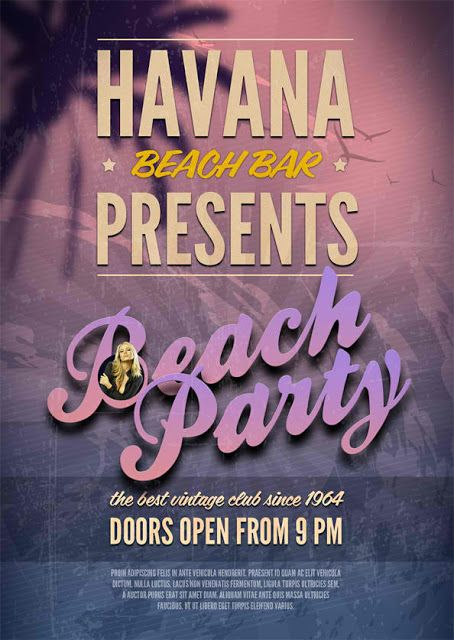 Free Beach Party Psd Flyer Template Freebies Network Online Free