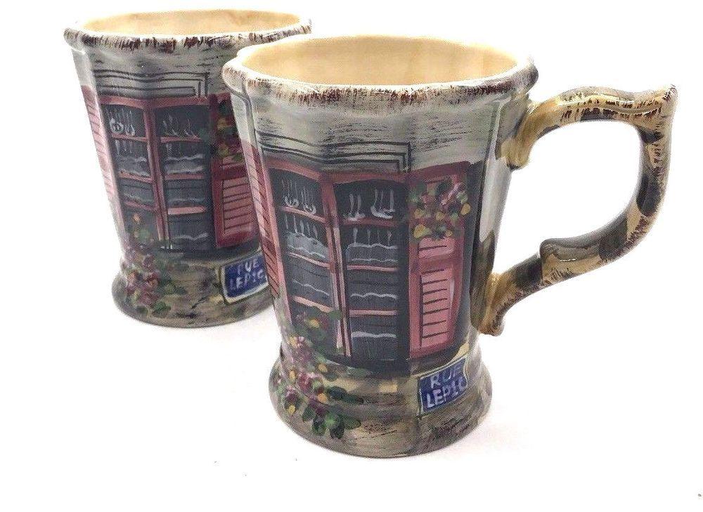 Rue de paris tabletops unlimited large coffee mug cup