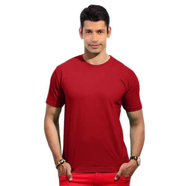 246fe5b35a2c Mens Red Colour Round-Neck Half Sleeve T-Shirts From www.softwear.in ...