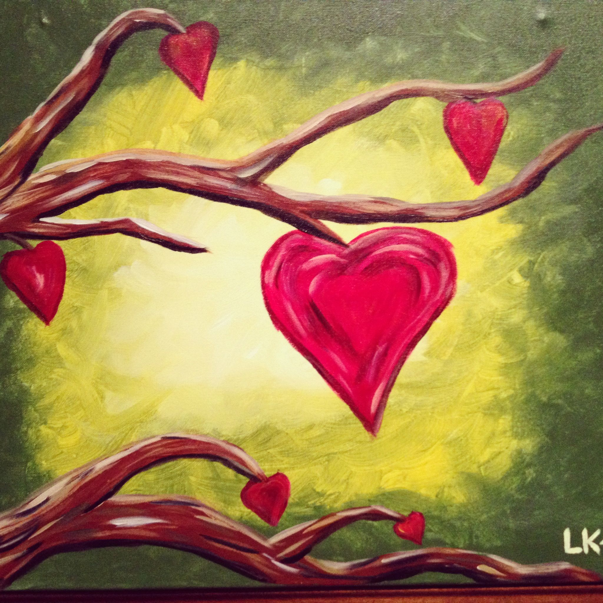 My Heart Month Painting at Tipsy Canvas | painting | Pinterest ...