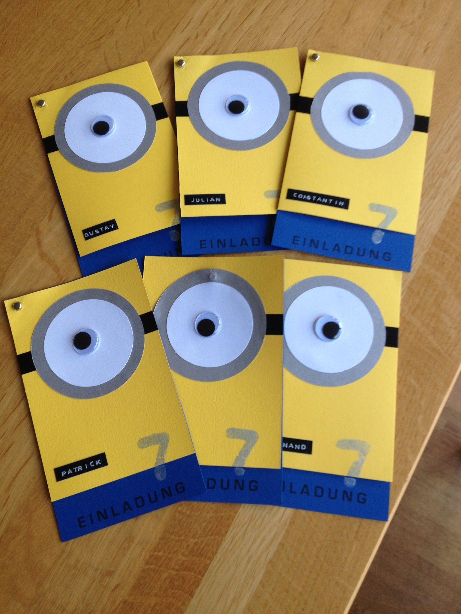 DIY: Minion U2013 Einladung Zum 7. Geburtstag