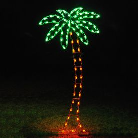 Holiday Lighting Specialists 8 83 Ft Palm Tree Outdoor Christmas Decoration With Led M Coastal Christmas Decor Palm Tree Christmas Lights Palm Tree Decorations