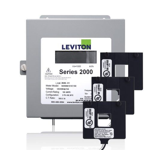 Leviton 2k208 4d Series 2000 208v 3p4w 400a Demand Indoor Kit With 3 Split Core Cts By Leviton 601 39 The Leviton Serie Leviton Current Transformer Metering