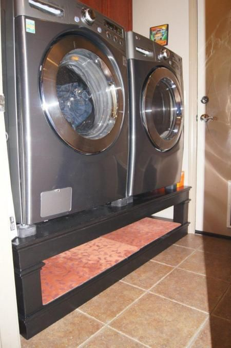 Build A Stand For The Washer And Dryer With Shoe Storage Underneath.  Perfect! | Our Home Ideas | Pinterest | Dryer, Washer And Laundry Pedestal