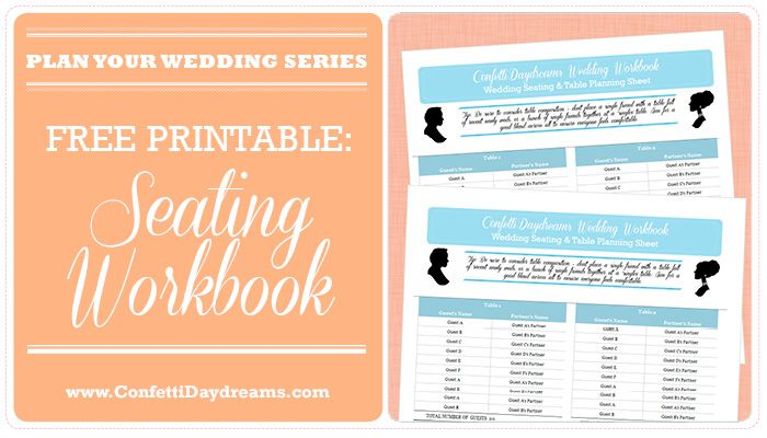 Wedding Table Planner  Seating Chart Workbook {Wedding Planning