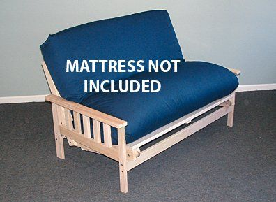 Com Full Size Savannah Futon Lounger Bed Frame Only Furniture