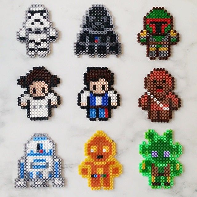 Bb 8 Star Wars Vii Earrings Mini Perler Beads By