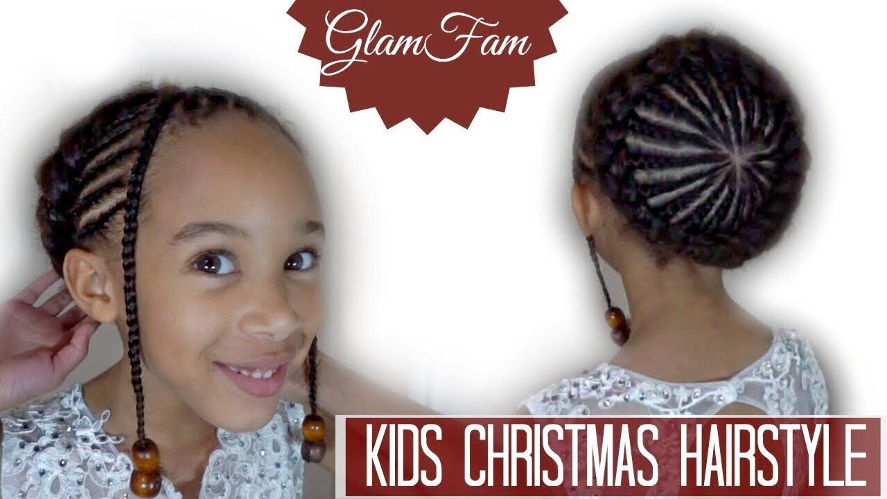 Braided childrenus hairstyle christmas hairstyle youtube