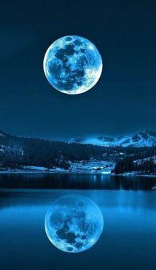 Un Hermoso Paisaje En La Noche Art Of All Kinds Beautiful Moon