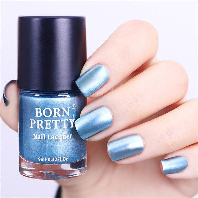 BORN PRETTY 9ml Metallic Nail Polish 1 Bottle Mirror Effect Gorgeous ...