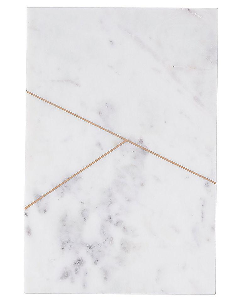 Plateau de marbre blanc house doctor visuel 1 for Fond ecran marbre