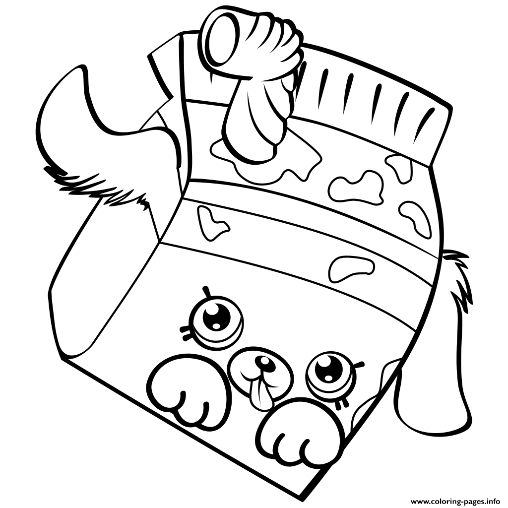 Print Petkins Dog Snout Shopkins Season 4 Coloring Pages