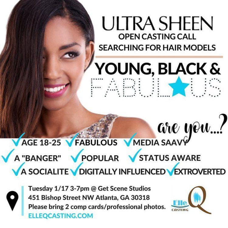Ultra Sheen Open Casting Call For Hair Models Jobs Et Linge
