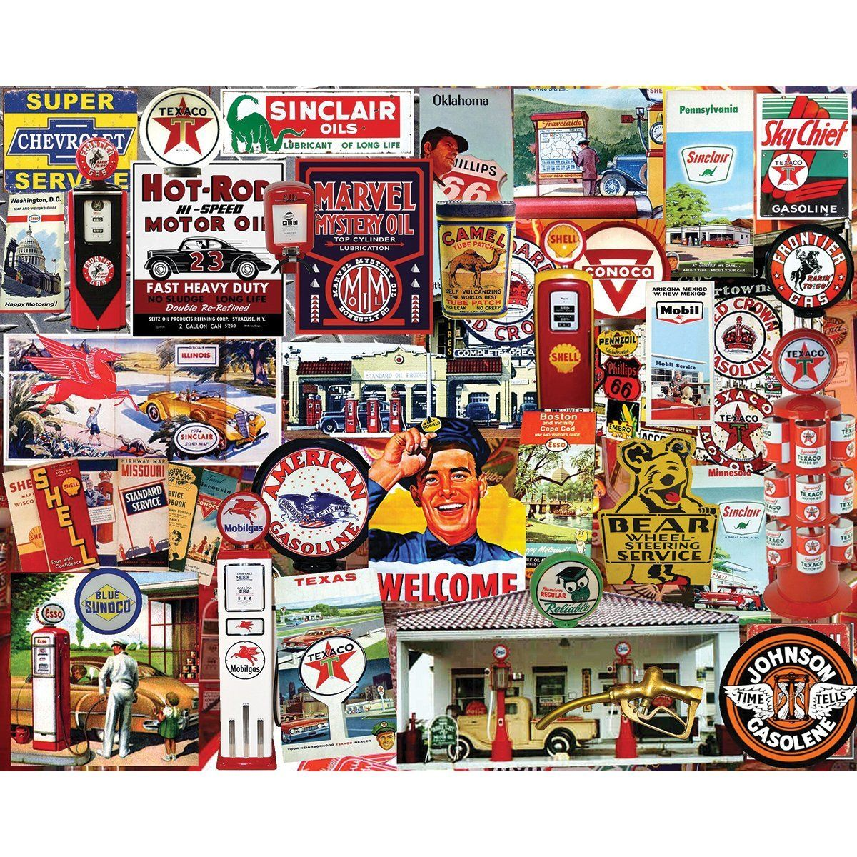 White Mountain Puzzles Fill Her Up This Collage Type