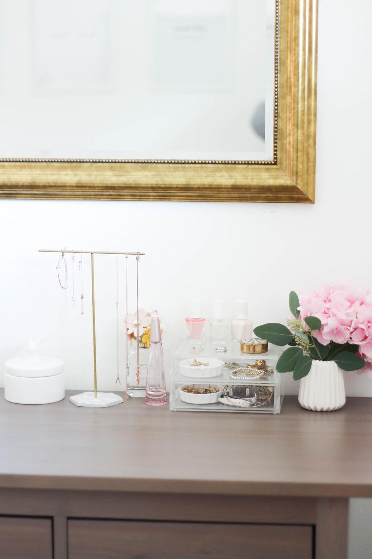 DIY Gold und Marmor Schmuckständer selber machen Home