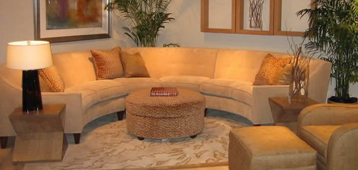 Curved Sectional Sofa Leather Lane Stanton Reviews For Home Interiors