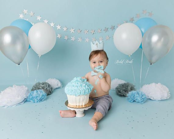 First Birthday Crown Of Felt 1st Birthday Boy Outfit For Baby Birthday Photoshoot Baby Boy 1st Birthday Party Smash Cake Boy