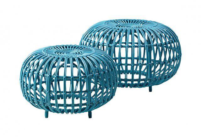 Hocker aus Rattan oder Alu, Sika Design Living, Rattan, Sika Design, Hocker