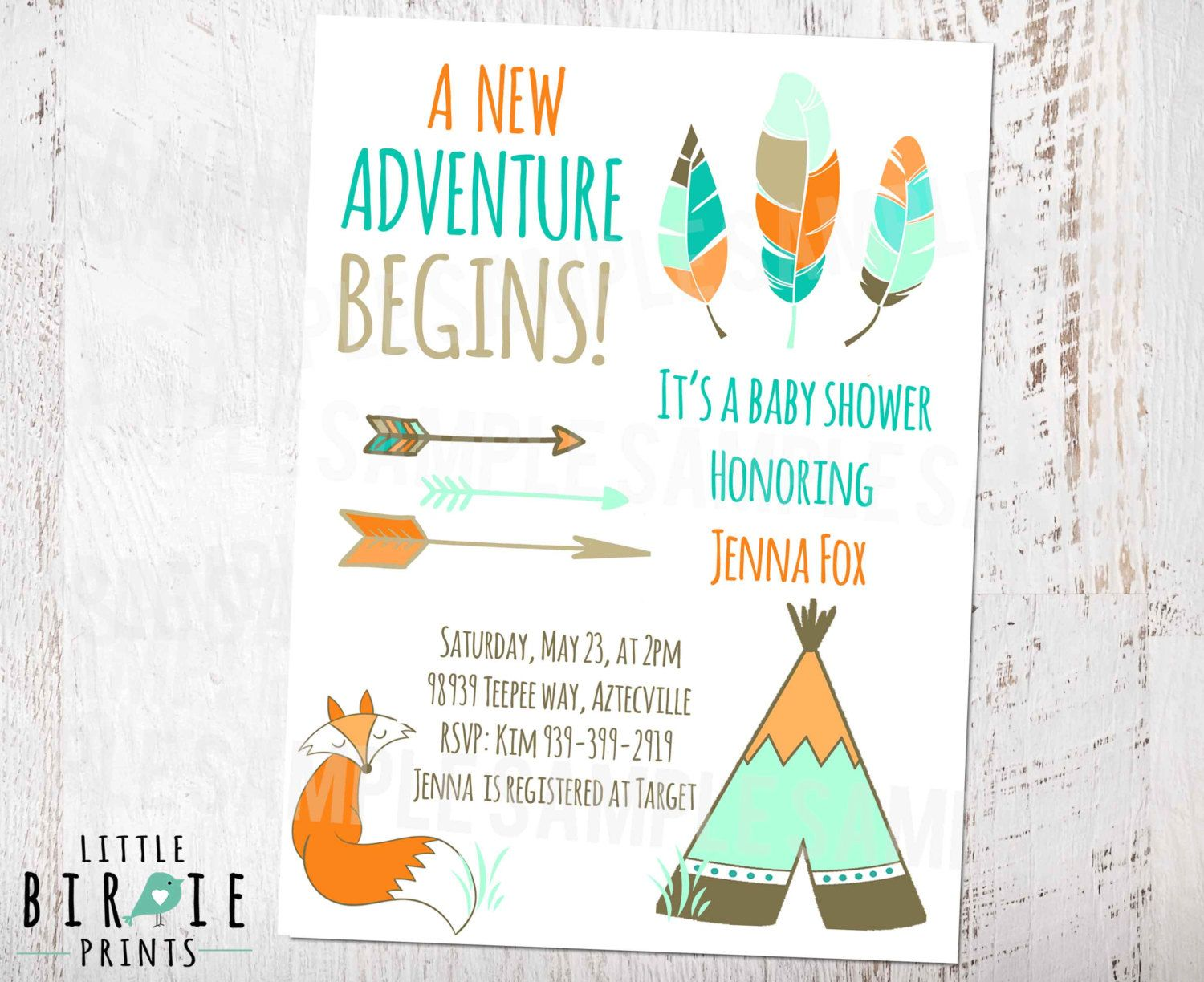 teepees and arrows baby shower | arrow baby shower invitation, Baby shower invitations