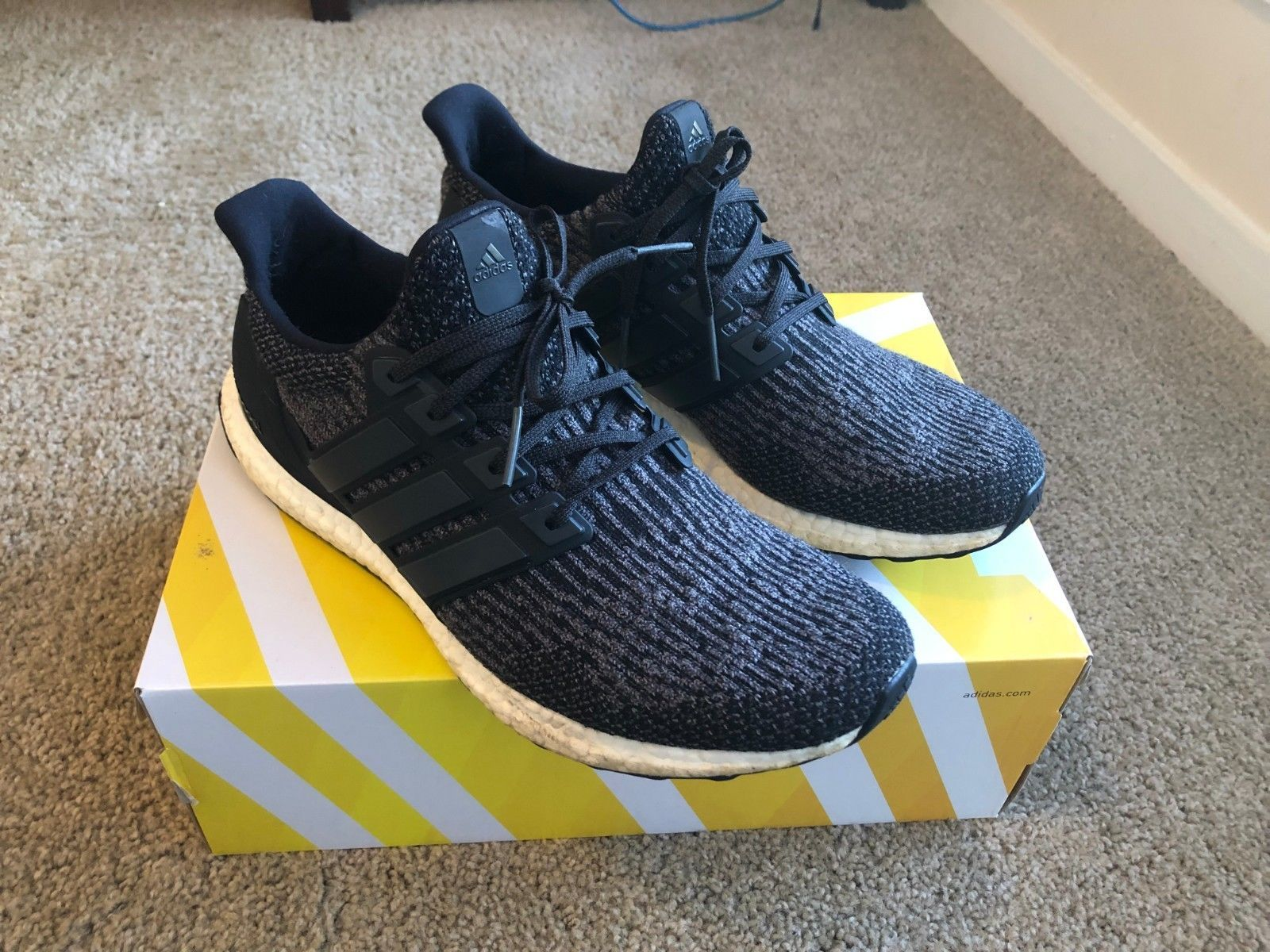 2e90fd1f4281e Details about ADIDAS Ultra BOOST 3.0 Utility Black Primeknit S80731 ...