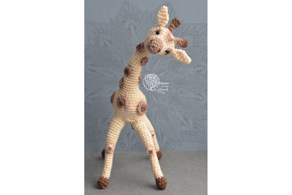 Crochet giraffe pattern, Amigurumi giraffe pattern, giraffe crochet pattern, crochet giraffe on wire, DIY Giraffe Toy by Yarns of my Heart