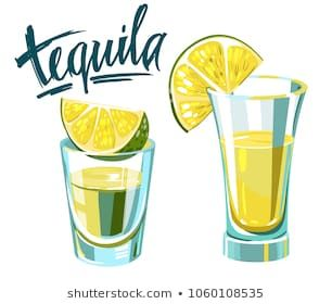 Tequila Shot With Lime Vector Illustration Tequila Tequila Shots Lime Pictures