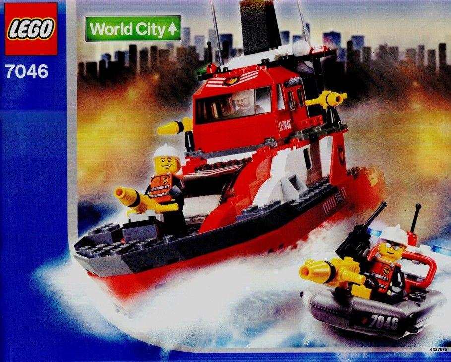 World City Fire Command Craft Lego 7046 Lego Fire Veh