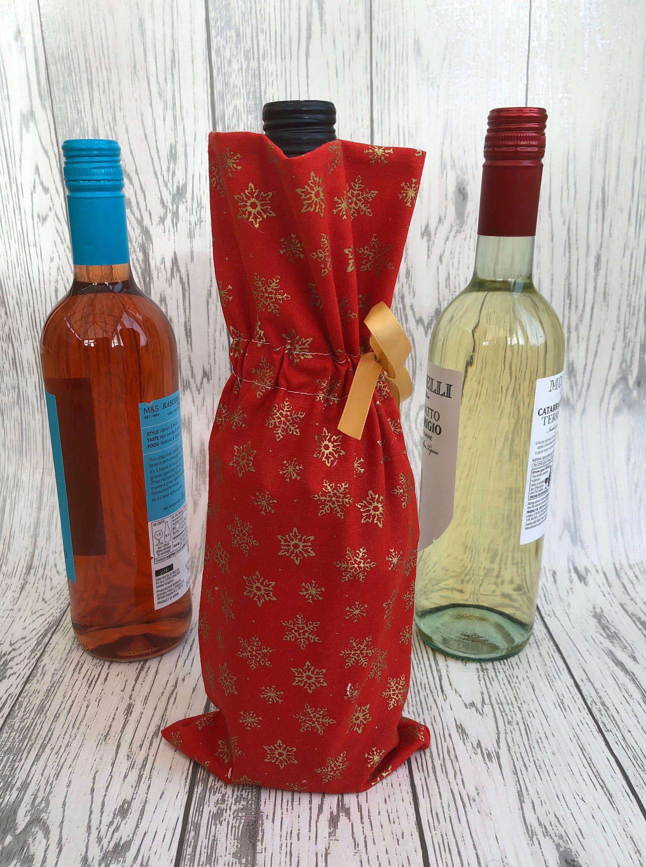 Reusable Bottle Bag Reusable Gift Wrap Cotton Gift Bag Christmas Gift Gift For Him Wine Bag Whiskey Bag Anniversary Gift Reusable Gift Wrap Bottle Bag Reusable Bottle
