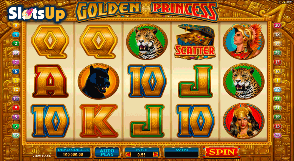 Golden Princess Slot by Microgaming Play FREE at SlotsUp